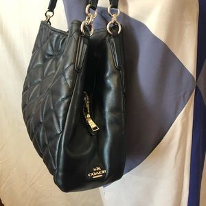 Coach Bags - Auth Coach Phoebe black quilted leather bag
